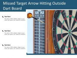 Missed Target Arrow Hitting Outside Dart Board