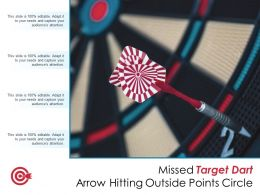 Missed Target Dart Arrow Hitting Outside Points Circle
