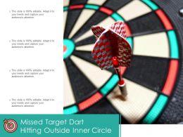 Missed Target Dart Hitting Outside Inner Circle