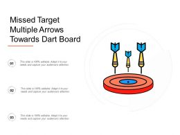 Missed Target Multiple Arrows Towards Dart Board