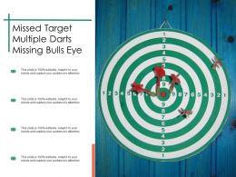 Missed Target Multiple Darts Missing Bulls Eye