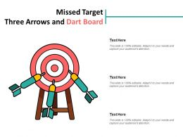 Missed Target Three Arrows And Dart Board