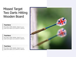 Missed Target Two Darts Hitting Wooden Board