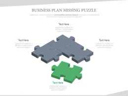 Missing Business Plan Diagram Made With Puzzles Powerpoint Slides