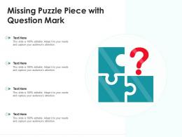 Missing Puzzle Piece With Question Mark