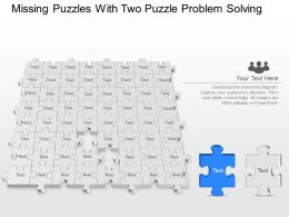 Missing Puzzles With Two Puzzle Problem Solving Powerpoint Template Slide
