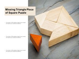 Missing Triangle Piece Of Square Puzzle