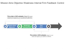 Mission Aims Objective Weakness Internal Firm Feedback Control