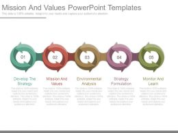 Mission And Values Powerpoint Templates