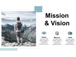 Mission And Vision Goal C289 Ppt Powerpoint Presentation File Tips