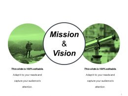 Mission And Vision PowerPoint Slide Design Templates