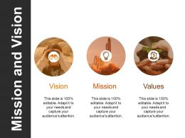 Mission And Vision Powerpoint Slide Information