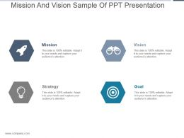 Mission And Vision Sample Of Ppt Presentation