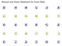 Mission And Vision Statement For Icons Slide Ppt Template