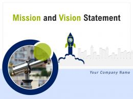 Mission And Vision Statement Powerpoint Presentation Slides