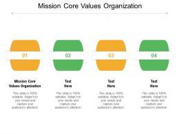 Mission Core Values Organization Ppt Powerpoint Presentation Ideas Slide Portrait Cpb