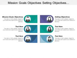 Mission Goals Objectives Setting Objectives Implementing Executing Strategy