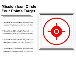 Mission Icon Circle Four Points Target
