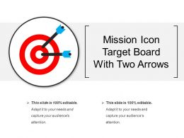 Mission Icon Target Board With Two Arrows