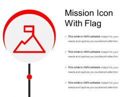 Mission Icon With Flag