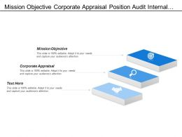 Mission Objective Corporate Appraisal Position Audit Internal Audit