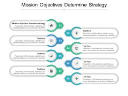 Mission Objectives Determine Strategy Ppt Powerpoint Presentation Infographics Smartart Cpb