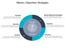 Mission Objectives Strategies Ppt Powerpoint Presentation Icon Visual Aids Cpb
