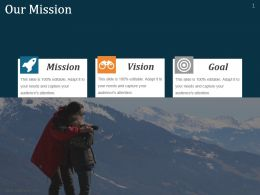 Mission Slide Shown By Mountaineering Trekking Ppt Slides
