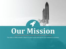 Mission Slide Shown By Rocket Icons And Image Ppt Slides