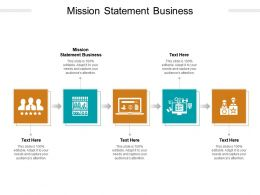 Mission Statement Business Ppt Powerpoint Presentation Icon Guidelines Cpb