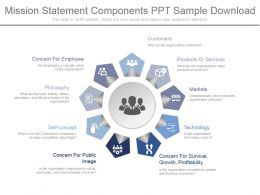 Mission Statement Components Ppt Sample Download