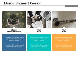 Mission Statement Creation Ppt Powerpoint Presentation Gallery Portrait Cpb