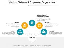 Mission Statement Employee Engagement Ppt Powerpoint Presentation Ideas Picture Cpb