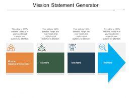 Mission Statement Generator Ppt Powerpoint Presentation Ideas Demonstration Cpb
