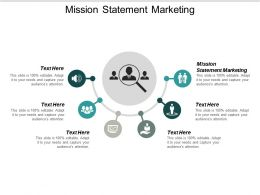 Mission Statement Marketing Ppt Powerpoint Presentation Summary Example Cpb
