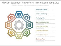 Mission Statement Powerpoint Presentation Templates