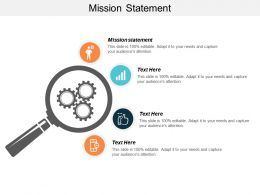 Mission Statement Ppt Powerpoint Presentation Gallery Clipart Images Cpb