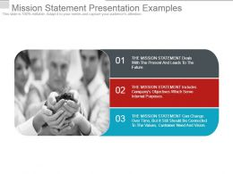 Mission Statement Presentation Examples