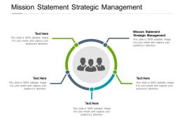 Mission Statement Strategic Management Ppt Powerpoint Presentation Summary Cpb