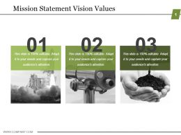 Mission Statement Vision Values Ppt Images Gallery