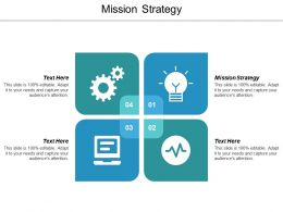 Mission Strategy Ppt Powerpoint Presentation Slides Deck Cpb