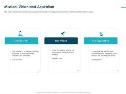 Mission Vision And Aspiration Pitch Deck Raise Funding Bridge Financing Ppt Slide