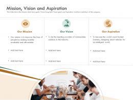 Mission Vision And Aspiration Raise Funding Bridge Funding Ppt Portrait