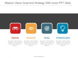 Mission Vision Goal And Strategy With Icons Ppt Slide