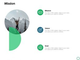 Mission Vision Goal C 953 Ppt Powerpoint Presentation Icon Example