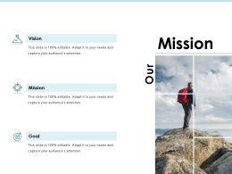 Mission Vision Goal J195 Ppt Powerpoint Presentation File Styles