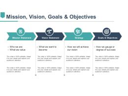 Mission Vision Goals And Objectives Ppt Slides Download