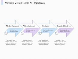 Mission Vision Goals And Objectives Statement Ppt Powerpoint Presentation Portfolio Design Inspiration