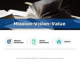 Mission Vision Value Statement F762 Ppt Powerpoint Presentation Show Display