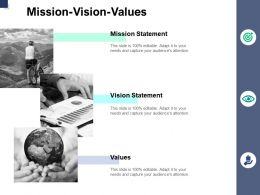 Mission Vision Values A766 Ppt Powerpoint Presentation Styles Infographics